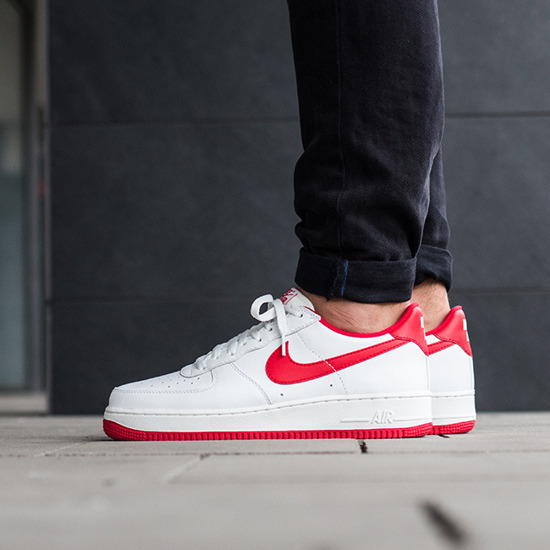 Buy Nike Men's Air Force 1 Low '07 QS Logo Pack RedWhite (9