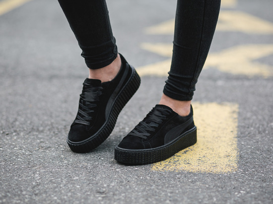 women 39 s shoes sneakers puma suede creepers satin fenty. Black Bedroom Furniture Sets. Home Design Ideas