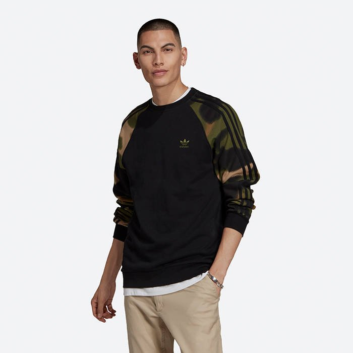 adidas Originals Camo Stripes Crewneck Sweatshirt GN1858