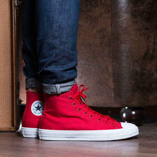 Converse Chuck Taylor All Star II Hi Red - Mens Shoes