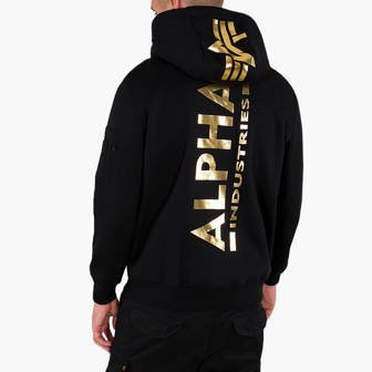 Alpha Industries Back Print Hoody Foll Print 178318FP 533
