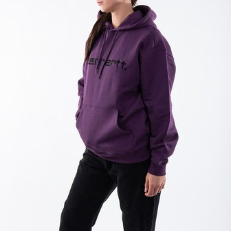 Carhartt WIP Hooded Carhartt Sweat I027476 BOYSENBERRY/BLACK