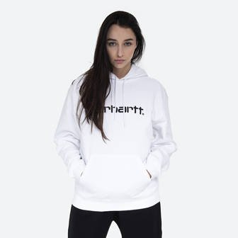 Carhartt WIP Hooded Carhartt Sweat I027476 WHITE/BLACK
