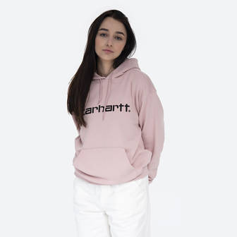 Carhartt WIP Hooded Sweat I027476 FROSTED PINK/BLACK