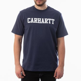 Carhartt WIP S/S College T-Shirt I024772 BLUE/WHITE