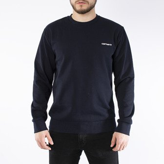 Carhartt WIP Script Embroidery Sweat I024678 DARK NAVY/WHITE
