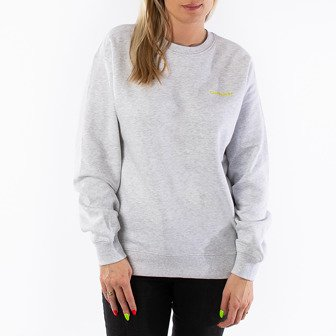 Carhartt WIP W' Script Embroidery Sweat I027477 ASH HEATHER/LIME