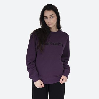 Carhartt WIP W Sweat I027475 BOYSENBERRY/BLACK