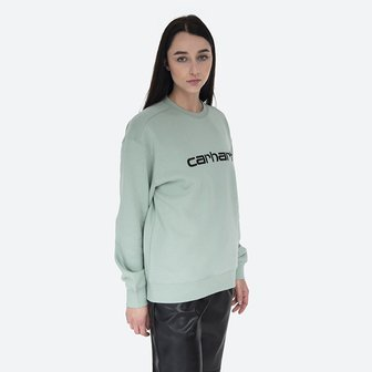 Carhartt WIP W Sweat I027475 FROSTED GREEN/BLACK