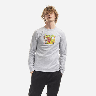 HUF The Munchies Longsleeve T-shirt TS01167 GREY HEATHER