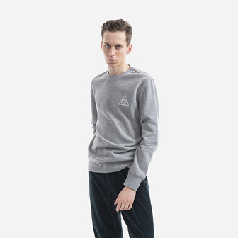 Huf Crewneck Triple Triangle PF00101 GREY