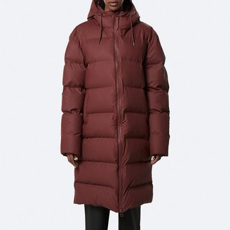 Rains Long Puffer Jacket 1507 MAROON