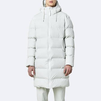 Rains Long Puffer Jacket 1507 OFF WHITE