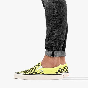 CLASSIC SLIP ON CHECKERBOARD SHOE FOR LADIES in YELLOW