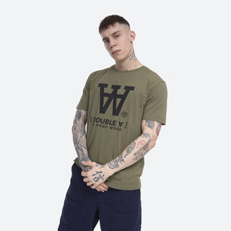 Wood Wood Ace T-shirt 10845705-2222 GREEN