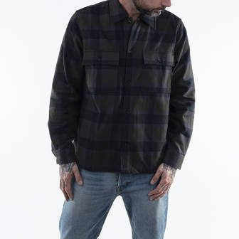 Wood Wood Franco Shirt 12035310-5223 GREEN CHECK