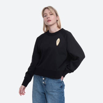 Wood Wood Hope Sweatshirt 12032402-2426 BLACK