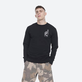 Wood Wood Hugh Sweatshirt 12015618-2474 BLACK