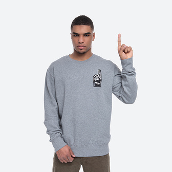 Wood Wood Hugh Sweatshirt 12015618-2474 GREY MELANGE