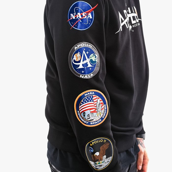 Kapuzenshirt black Brandneu NASA Alpha Industries Apollo 50 Hoody Alpha