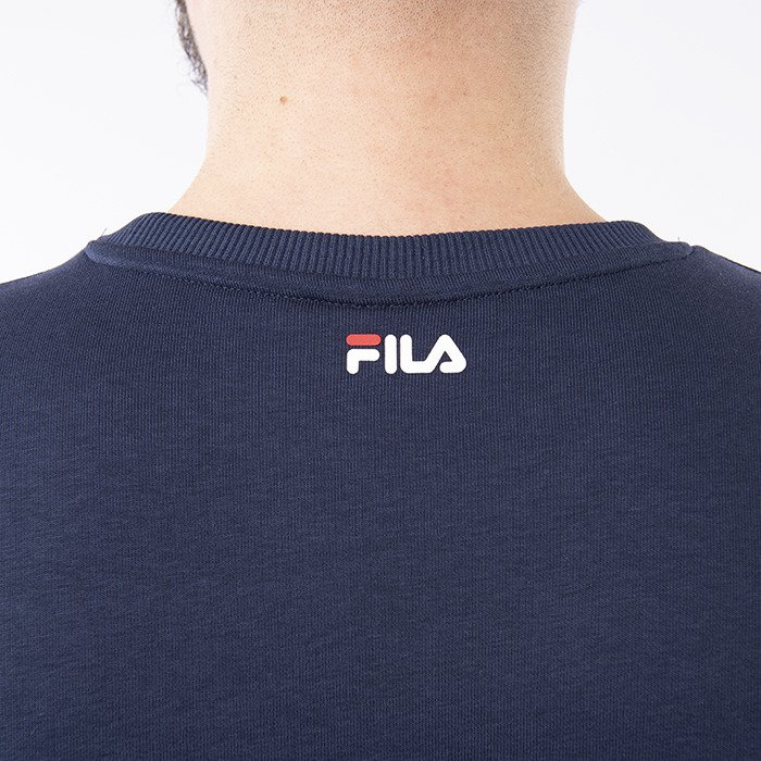 Vintage Hoodie With Small Script In Navy Navy (Fila)