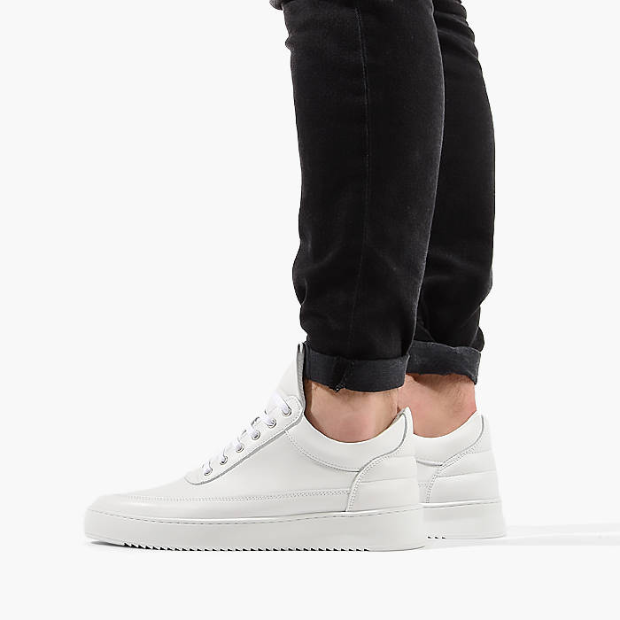 Filling Pieces Low Top Ripple Lane Nappa All White