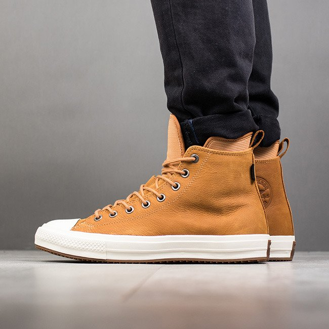 Leather Converse Brown Shoes