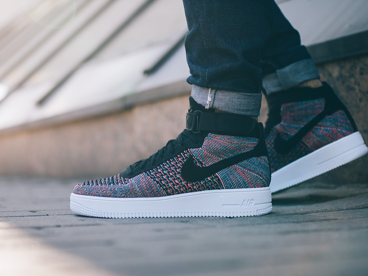 buty wmns nike air force 1 flyknit oreo