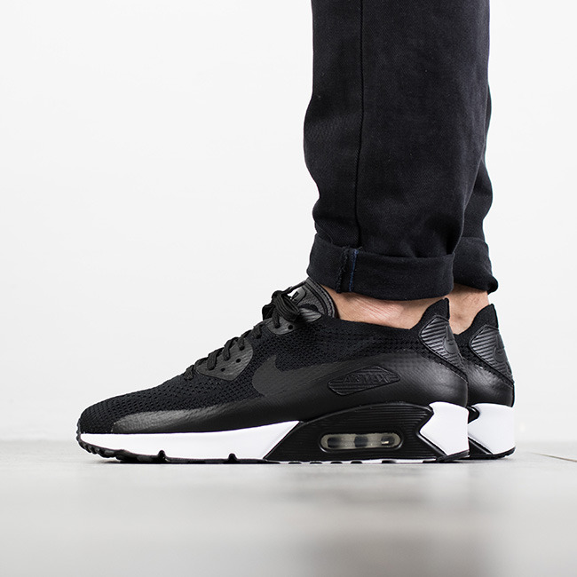 nike air max 90 ultra 2.0 flyknit black white