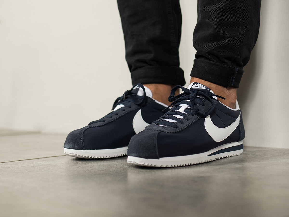 ... Mens Shoes sneakers Nike Classic Cortez Nylon 807472 410 ...