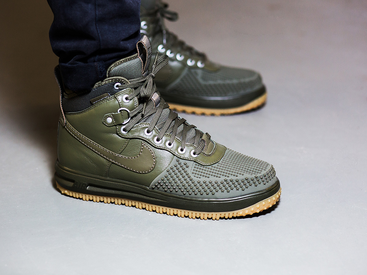 fd547d50aa inexpensive nike lunar force 1 duckboot mid olive 9db28 e5401