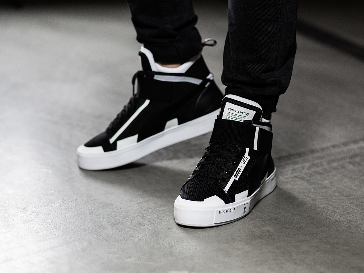 official photos d7f41 fc7f9 ... puma court play x ueg high black white .