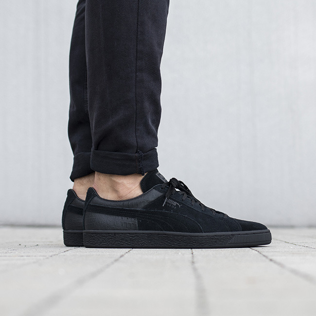 shopping online outlet sale lowest price Puma Classic Casual Emboss Black Sneakers best place cheap online wxbgcK