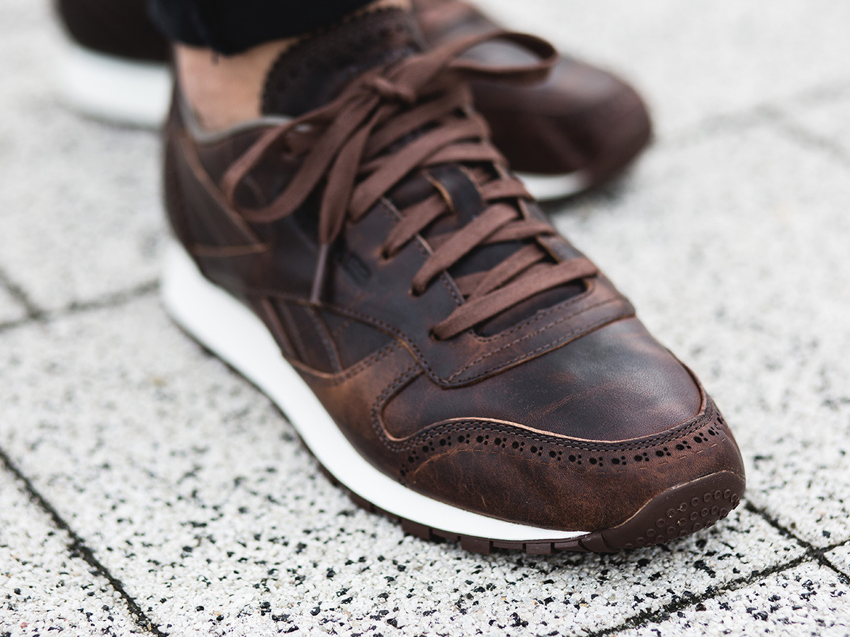 ... Men's Shoes sneakers Reebok Classic Leather Lux Horween AQ9960 ...