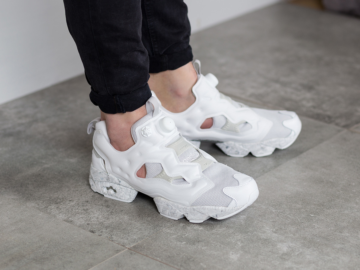 best website e4116 2399d reebok insta pump fury white grey gold