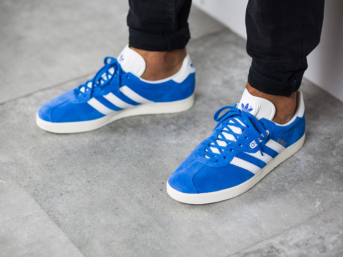 adidas Gazelle Super Men Blue fashion shoes clearance  hot sale online