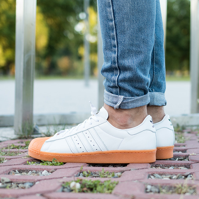 adidas originals superstar 80s mens Orange