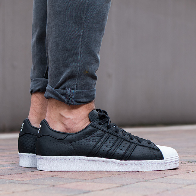 adidas Originals Superstar 80s Black - Mens Shoes