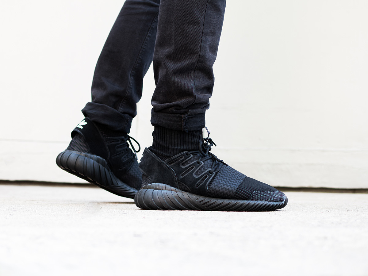adidas tubular doom primeknit mens shoes black