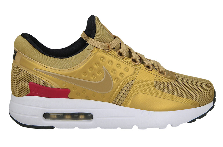 WMNS NIKE AIR MAX ZERO METALLIC GOLD/RED RUNNING SHOES WMN'S SELECT YOUR SIZE