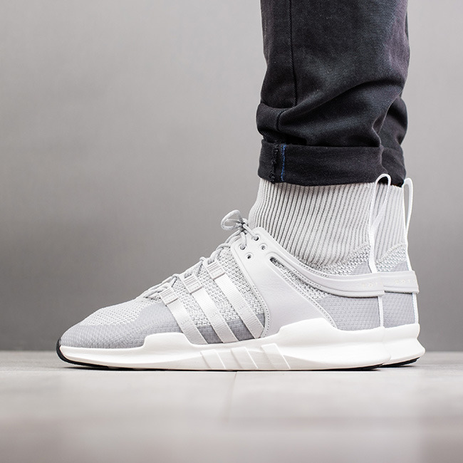 86d72aee2bdeab Adidas Originals EQT Support ADV Primeknit Grey Black Men s Women s Shoes