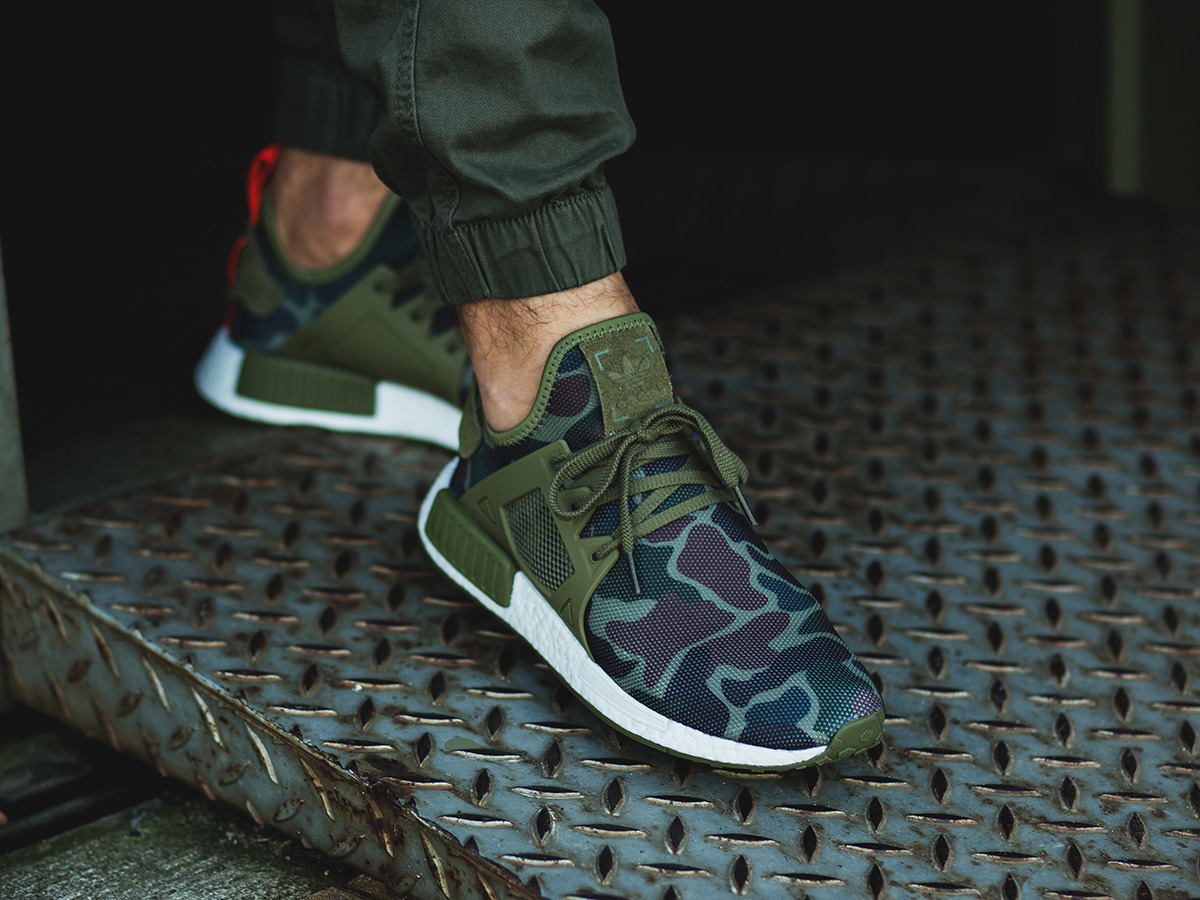 adidas men's nmd xr1 duck camo olive cargo