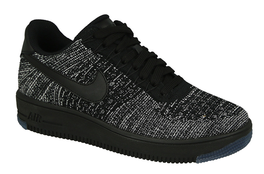 Nike Air Force 1 Flyknit Low Black Black White