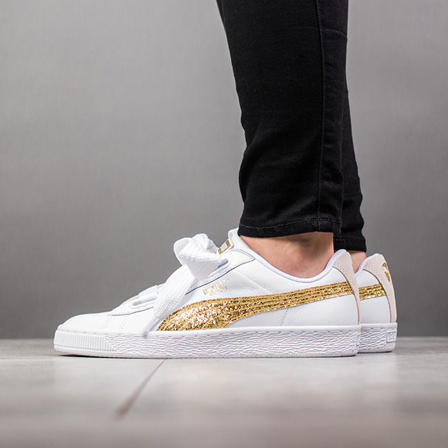 Puma Basket Heart Glitter 364078 01 Best shoes SneakerStudio