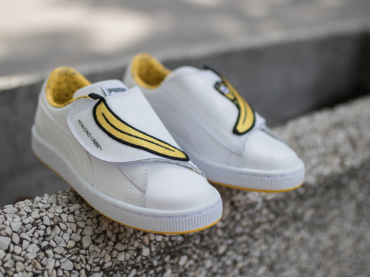 basket puma minion