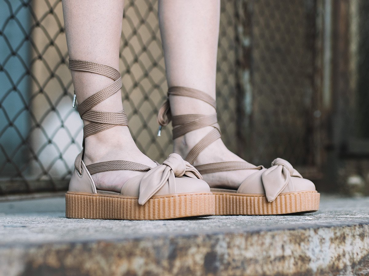 buy popular b9b19 6684d Puma X Fenty Rihanna Bow Creeper Sandal 365794 03 - Best ...