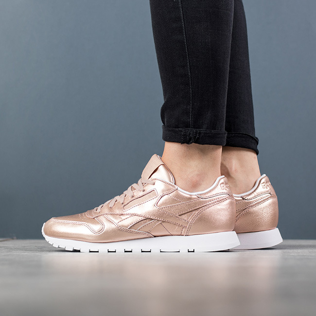 BS7897 Reebok Classic Leather Melted Metal women's shoes