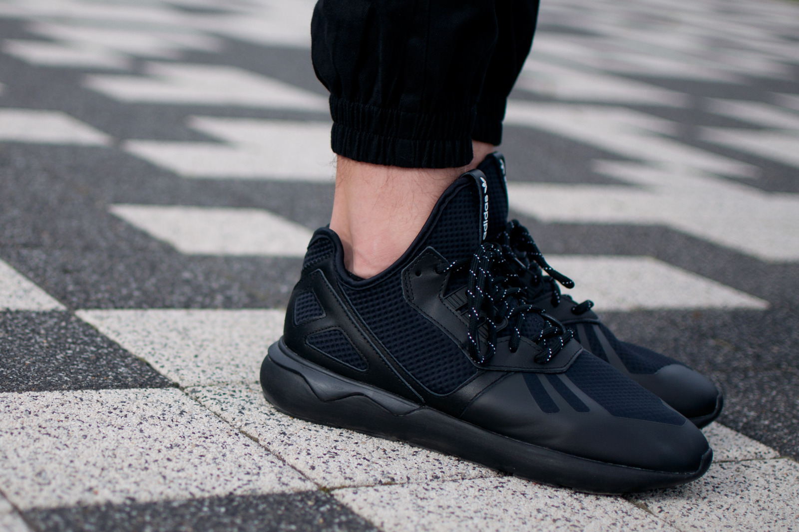 A Monochromatic adidas Originals Tubular Runner