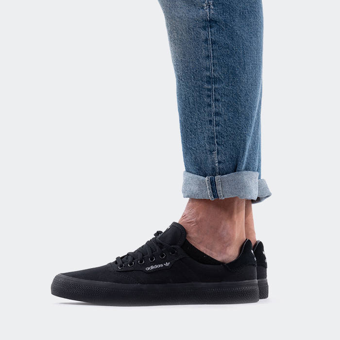 3MC Vulc Shoes Black Mens | Sneakers, Black shoes, Black adidas