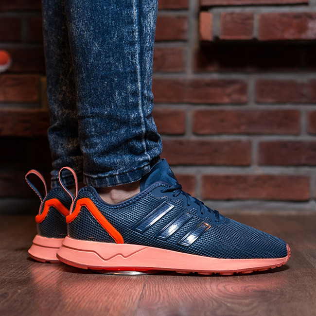 reputable site df54d 21151 adidas zx flux blue and orange